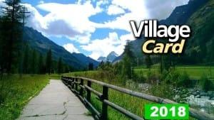 village card 2018 fronte